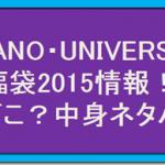 【ナノユニバース】福袋2015 予約はどこで? / 中身ネタバレ情報!